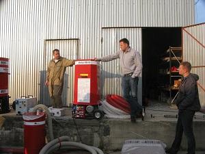 1 maszyna dowdmuchiwania granulatow Minifant